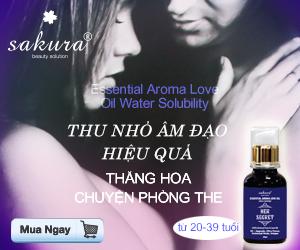 Tinh Dầu Tăng Khoái Cảm Sakura Essential Aroma Love Oil Water Solubility