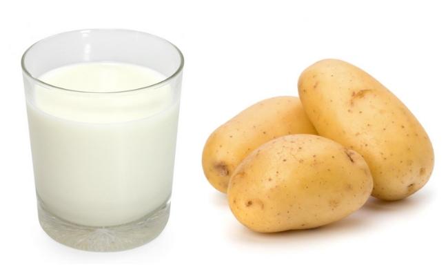 khoai tây và sữa tươi giúp trắng da hơn