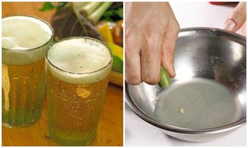 Bia và nước cốt chanh