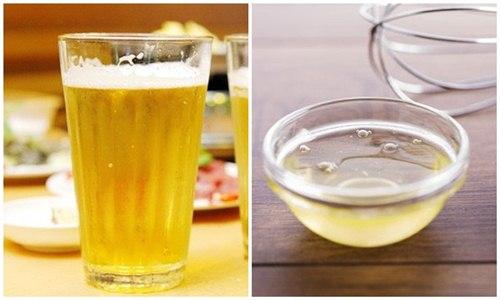 Bia và lòng trắng trứng