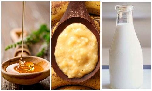 Mặt nạ mật ong, chuối, sữa tươi