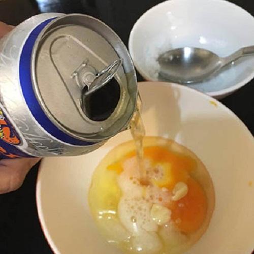 Làm trắng da từ bia và lòng trắng trứng gà