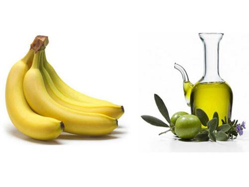 Dưỡng ẩm da từ dầu olive + chuối chín