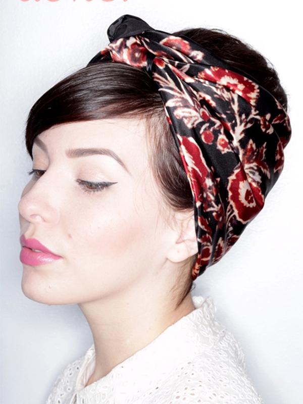 Thay đổi kiểu tóc trong 1 phút chỉ với khăn choàng - Ảnh 4