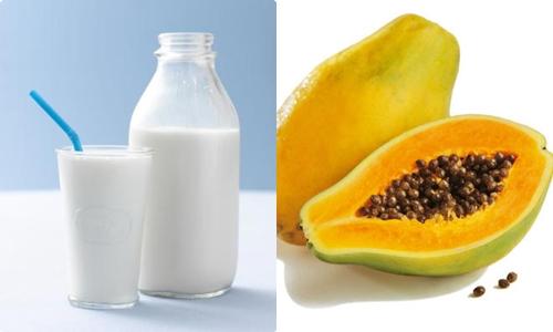 Kết quả hình ảnh cho Mặt nạ ngực được làm bằng đu đủ – sữa tươi