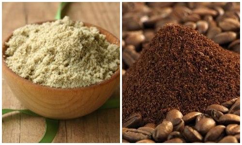 bột cafe và cám gạo giúp trắng da hơn