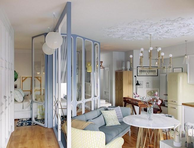 Thiết kế căn hộ nhỏ có hai phòng ngủ cực kỳ thông minh - Ảnh 2.
