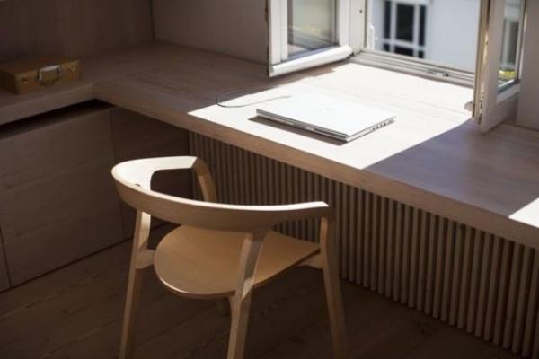 Những cách tận dụng không gian cửa sổ để tạo góc làm việc thoải mái cho nhà hẹp - Ảnh 4.