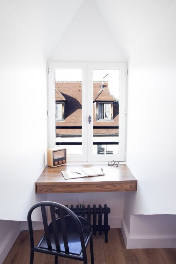 Những cách tận dụng không gian cửa sổ để tạo góc làm việc thoải mái cho nhà hẹp - Ảnh 5.