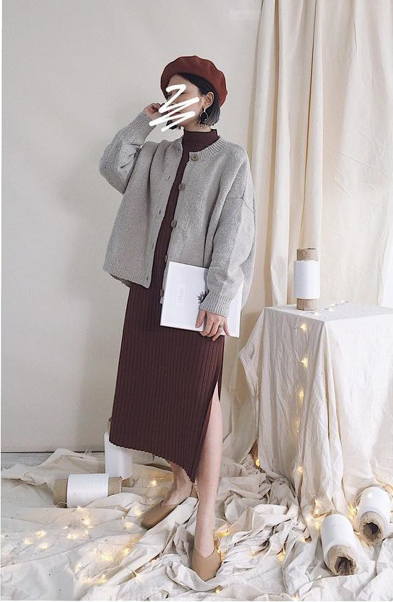 Dịp tết này các nàng hãy tranh thủ sắm ngay áo cardigan cổ tròn bà ngoại đang là mốt - Ảnh 13.