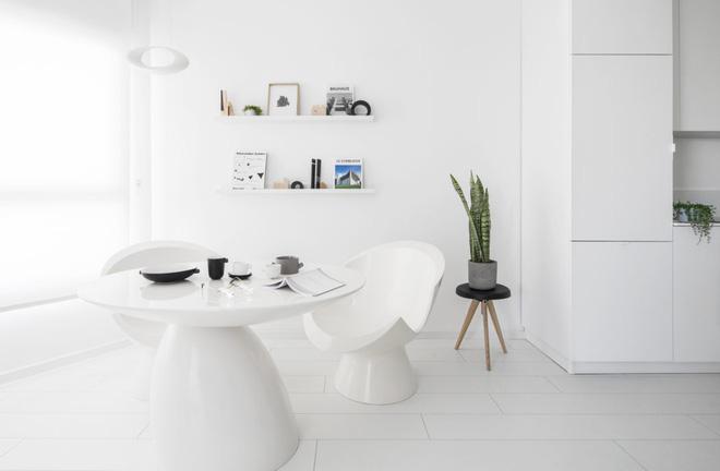 Căn hộ nhỏ hẹp 42m² nhìn rộng thênh thang nhờ sử dụng gam màu trắng tinh khôi - Ảnh 5.