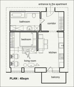 Cách BÀI TRÍ NỘI THẤT chuẩn cho căn hộ dưới 45m² theo phong cách hiện đại