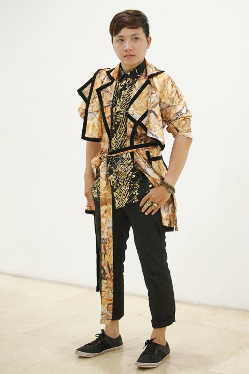 Chàng dân tộc Thái diện áo xuyên thấu dự thi thiết kế - 3