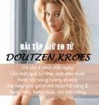 """Bài tập cho vòng eo """"phẳng lì"""" chỉ trong 4 phút của Doutzen Kroes"""