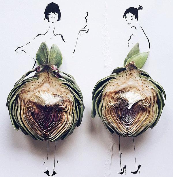 Váy phác thảo từ thực phẩm gây chú ý