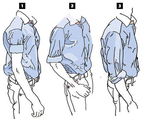 Những cách xắn tay áo sơ mi chuẩn men cho chàng