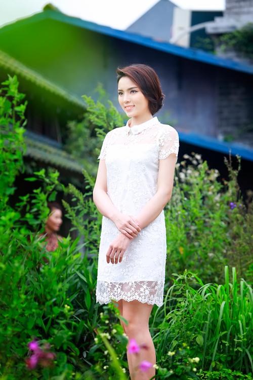 Hoa hậu Kỳ Duyên diện trang phục của nhà thiết kế Hà Duy.