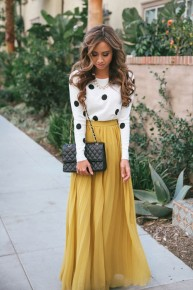 Dịu dàng sắc thu với 3 loại chân váy đơn giản