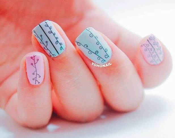Gợi ý mẫu nail SIÊU dễ thương và ngọt ngào của Thái Lan cho nàng bánh bèo diện ngày Thu