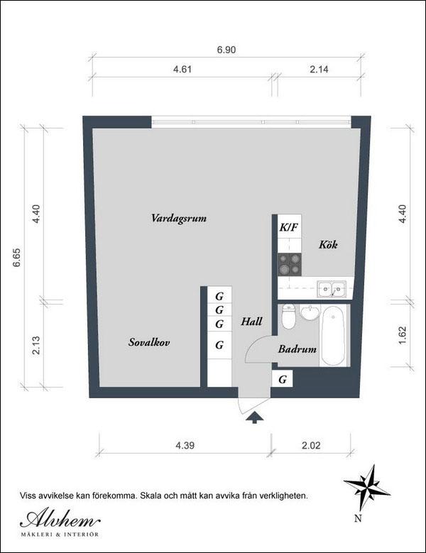 Chỉ 44m² nhưng nhờ cách bài trí mà căn hộ này trông rộng đến khó tin - Ảnh 15.