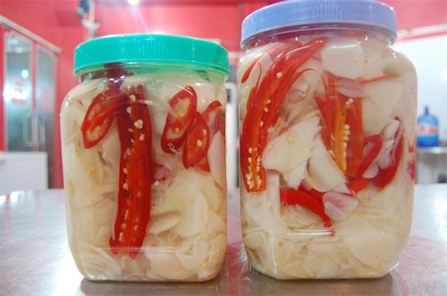 Cách làm măng muối tỏi ớt thơm lừng