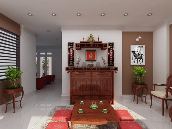 Cách đặt bàn thờ gia tiên nhà chung cư tránh bất hòa, đón tài lộc