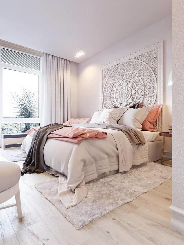 Một tác phẩm văn học nghệ thuật lấy cảm hứng từ xứ sa mạc độc đáo đã đưa ra một cái nhìn khác biệt cho phòng ngủ này.