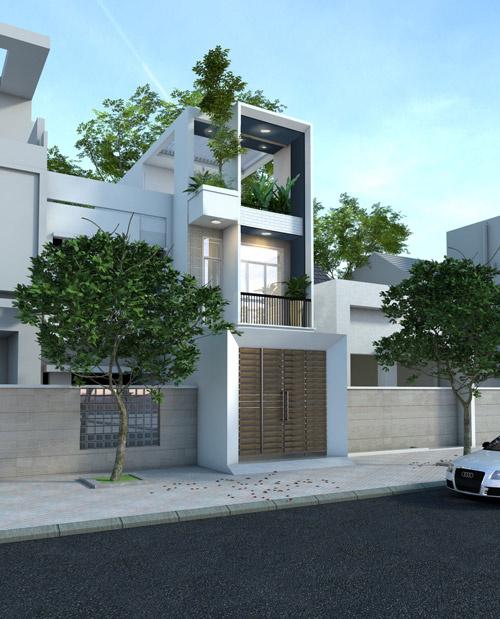 Làm nhà 3 tầng có nhiều sân với 900 triệu ở Sài Gòn