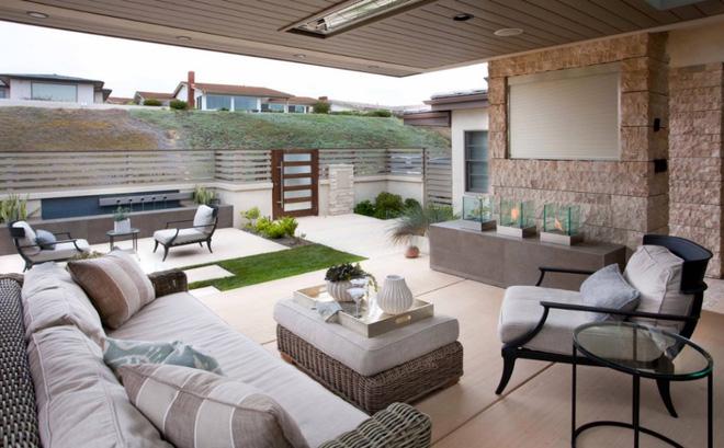Tạo phòng khách ngoài trời đẹp như trong mơ nhờ ý tưởng trang trí sáng tạo sau - Ảnh 1.