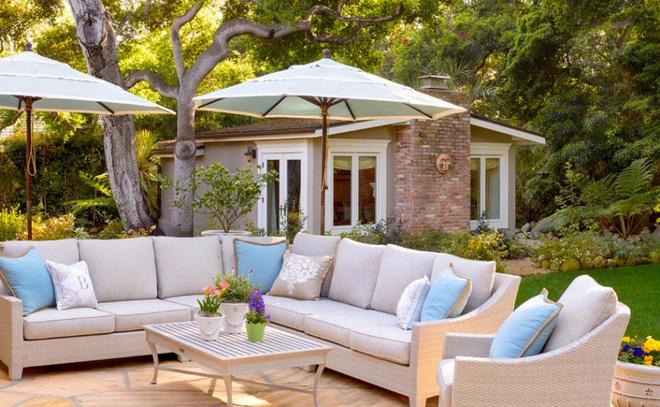 Tạo phòng khách ngoài trời đẹp như trong mơ nhờ ý tưởng trang trí sáng tạo sau - Ảnh 4.