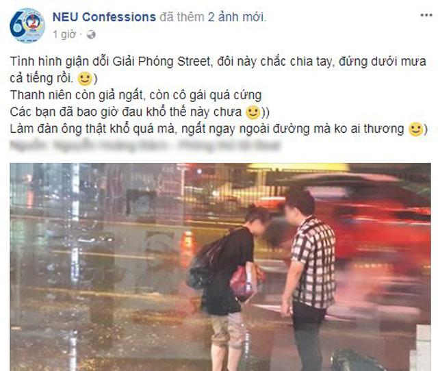 """Bất chấp mưa bão, chàng trai vẫn nằm lăn ra đường giả vờ ngất để """"ăn vạ"""" người yêu ⁄"""
