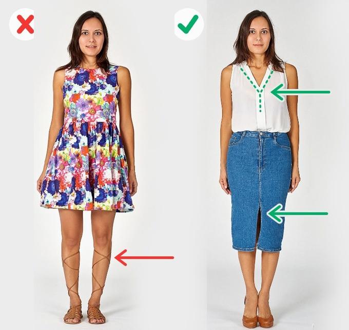Để trông thanh mảnh hơn, bạn đừng mắc 6 lỗi thời trang này