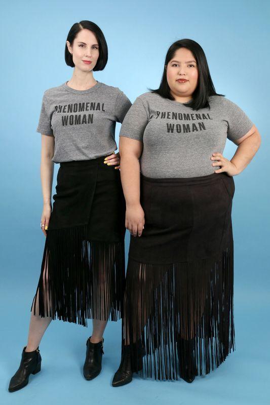 2 cô nàng béo và gầy này sẽ cùng mặc thử 1 mẫu trang phục để xem liệu ai sẽ mặc đẹp hơn - Ảnh 1.