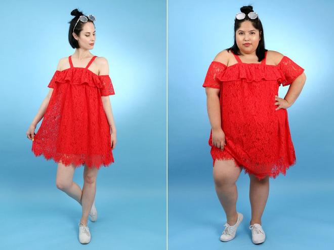 2 cô nàng béo và gầy này sẽ cùng mặc thử 1 mẫu trang phục để xem liệu ai sẽ mặc đẹp hơn - Ảnh 5.