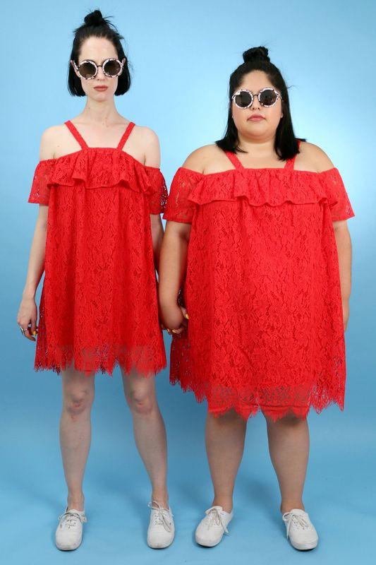 2 cô nàng béo và gầy này sẽ cùng mặc thử 1 mẫu trang phục để xem liệu ai sẽ mặc đẹp hơn - Ảnh 6.