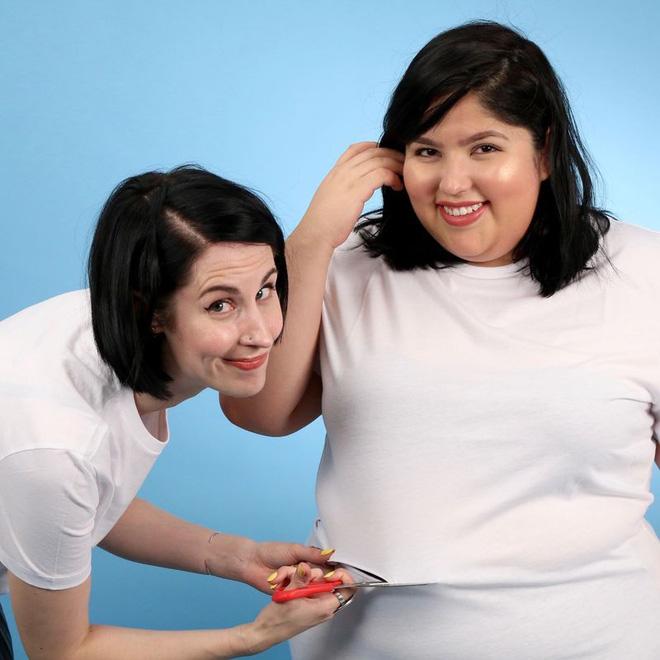 2 cô nàng béo và gầy này sẽ cùng mặc thử 1 mẫu trang phục để xem liệu ai sẽ mặc đẹp hơn - Ảnh 8.