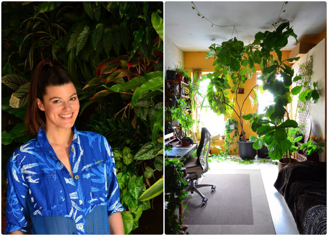 Cô gái độc thân biến căn hộ nhỏ ở chung cư cao tầng của mình thành vườn cây trong phố - Ảnh 1.