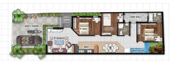 """Những mẫu thiết kế nhà 1 tầng 3 phòng ngủ """"đẹp miễn chê"""" với chi phí thấp"""