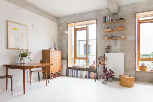 Căn hộ 25m² với tường thô trát xi măng vẫn trở thành không gian vạn người mơ ước
