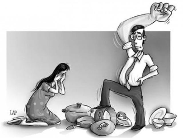 Bao nhiêu lần mâm cơm đang ăn bị bố hất ngược, đổ hết cơm canh, vợ con phải chạy tứ tán thoát thân (Ảnh minh hoạ)