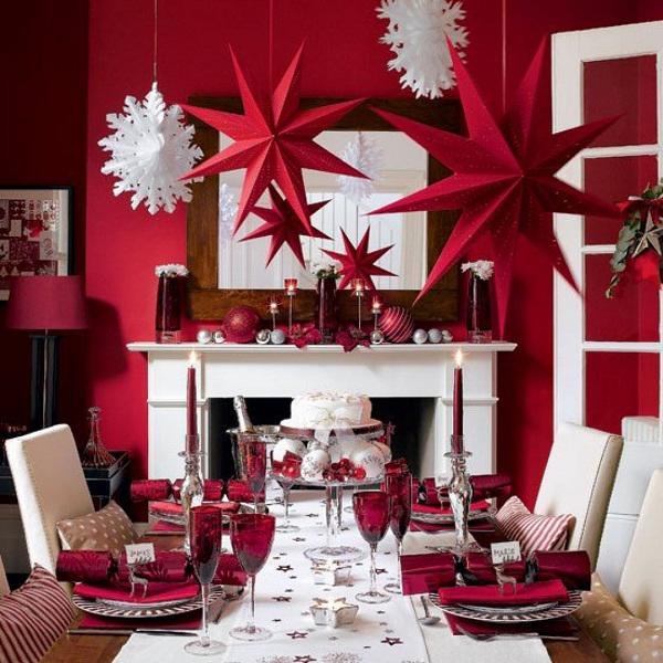Trang trí phòng khách nhà ống đẹp ấn tượng ngày Giáng sinh