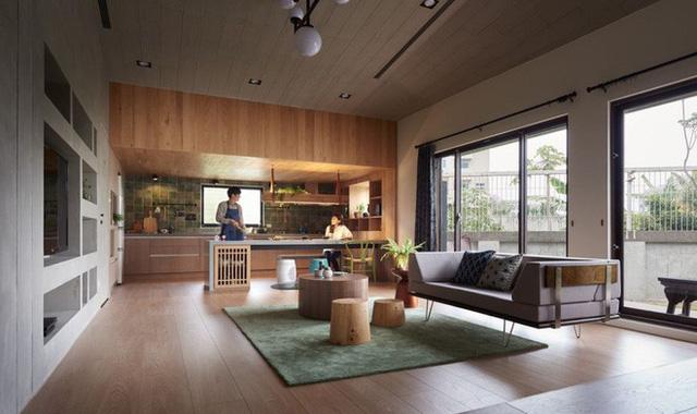 Những gam màu trung tính, màu gốc tự nhiên được thêm pha vào từng góc nhỏ, như tăng thêm nét gần gũi và bình yên cho ngôi nhà nhỏ.