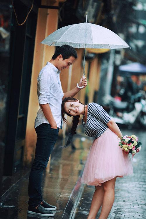 Ảnh cưới đẹp ngỡ ngàng dưới trời mưa lũ Hà Nội - 3