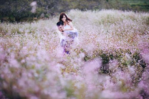 Đẹp mê mẩn ảnh cưới giữa cánh đồng hoa Mộc Châu - 3