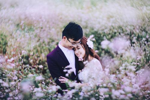 Đẹp mê mẩn ảnh cưới giữa cánh đồng hoa Mộc Châu - 4