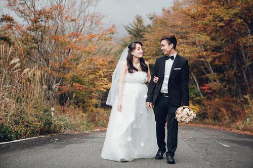 Ảnh cưới mùa thu Nhật Bản đẹp như mơ của cặp đôi 9x - 4