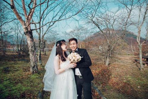Ảnh cưới mùa thu Nhật Bản đẹp như mơ của cặp đôi 9x - 5