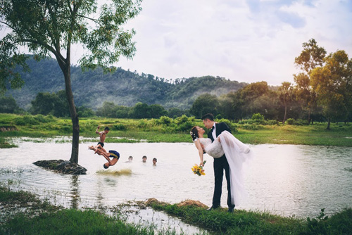 Ảnh cưới sông nước miền Tây của cặp đôi Việt kiều Mỹ - 1