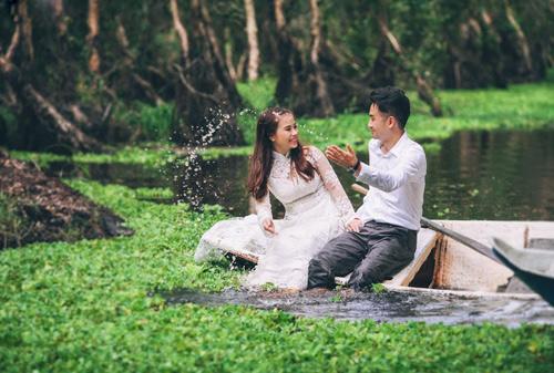 Ảnh cưới sông nước miền Tây của cặp đôi Việt kiều Mỹ - 11