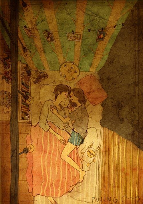 Cặp đôi chụp ảnh cưới theo bộ tranh vẽ tình yêu Hàn Quốc đình đám - 3